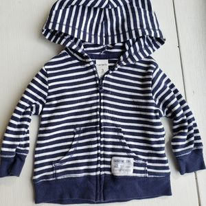 5/$20 striped zip up jacket 3m